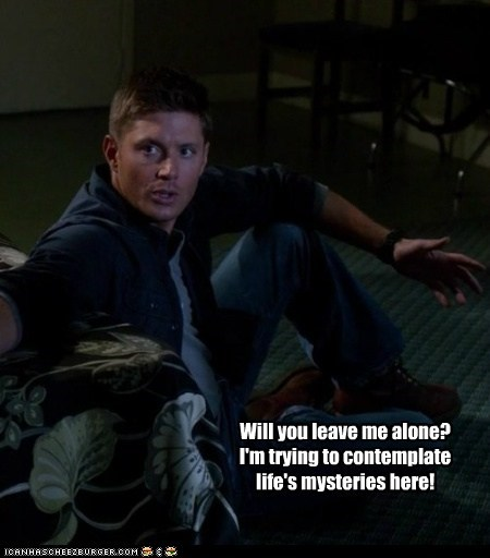 life leave me alone jensen ackles Supernatural dean winchester mysteries - 6660987392