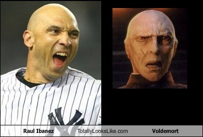 funny TLL celeb sports baseball raul ibanez Lord Voldemort - 6661101312