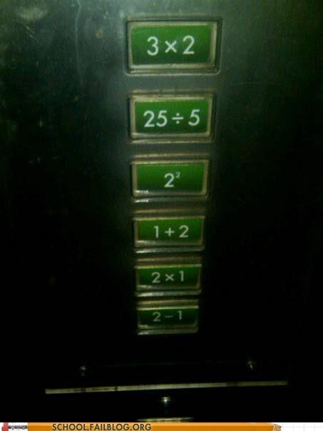 elevator math confusing buttons - 6661285888