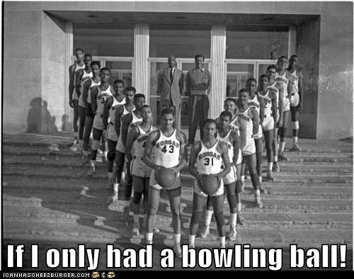pins bowling v basketball team - 6661300480