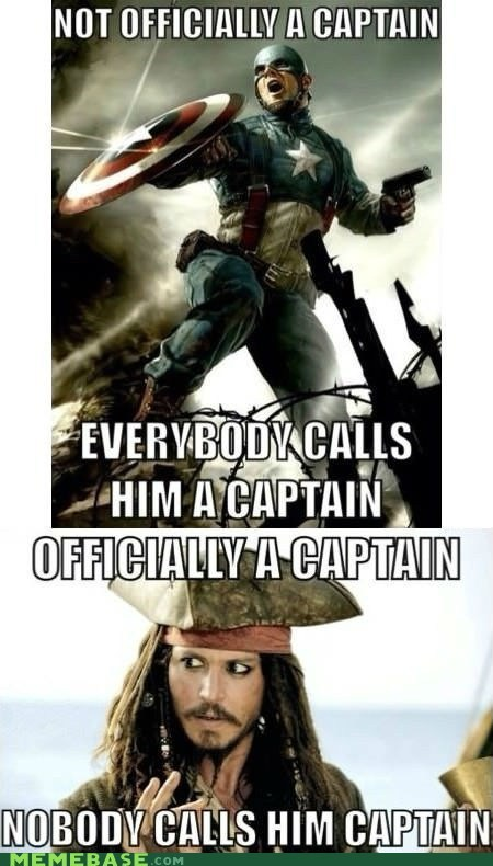 jack sparrow,captain,captain america,nicknames