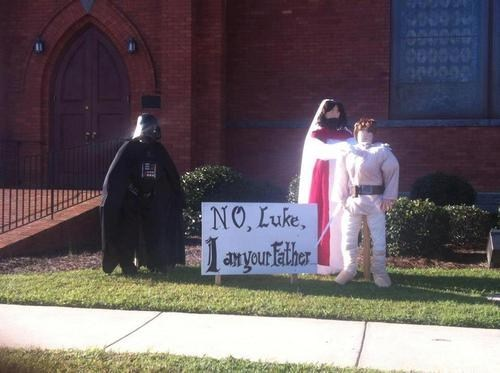 religious halloween decor,star wars,church