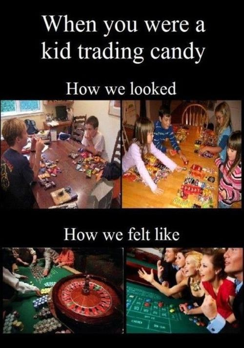 trading candy gambling halloween g rated hallowmeme