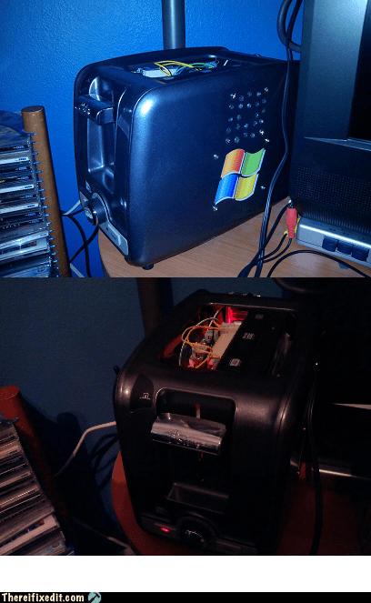 toaster pc toaster PC windows computer microsoft kitchen appliances - 6662311424