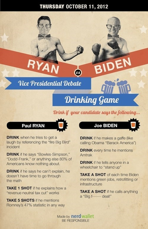 drinking game,vice-presidential debate,joe biden,paul ryan