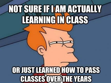 class,learning,passing,fry,g rated,School of FAIL