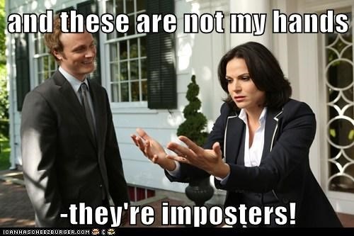 once upon a time,evil queen,high,David Anders,lana parrilla,hands,imposters,regina mills,Dr-Whale