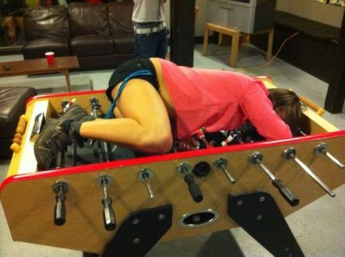 not comfortable foosball passed out too drunk - 6662443520
