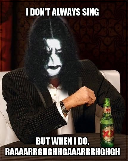 black metal dos equis meme singing - 6662497024