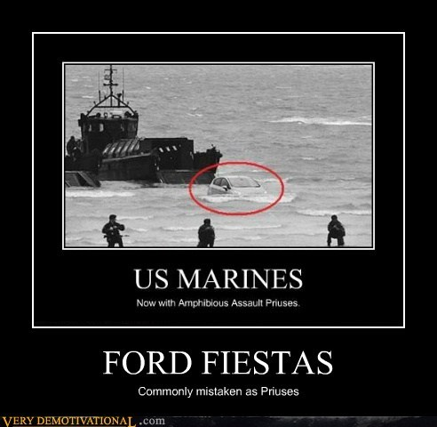 ford fiesta Prius army British - 6662759424