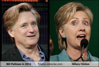 funny,TLL,actor,celeb,politics,Bill Pullman,Hillary Clinton