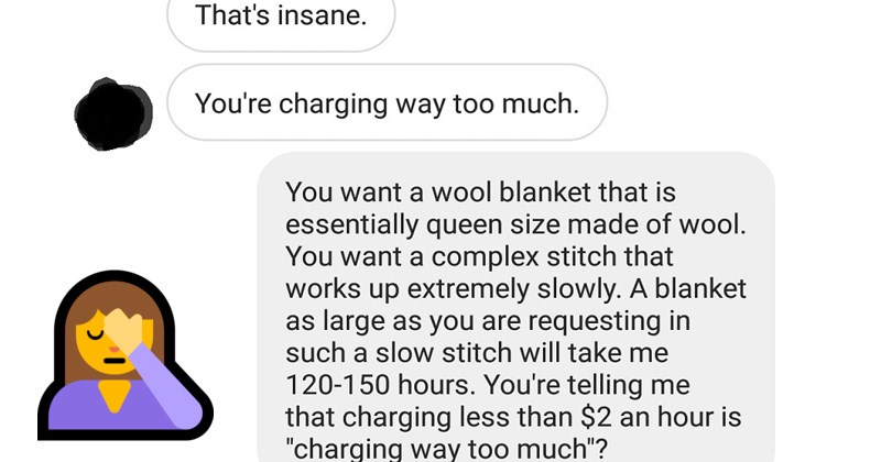 rude entitled customer goes into rage over blanket