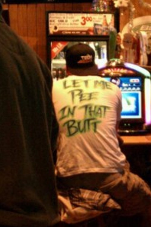 T.Shirt,pee in that butt,airbrush