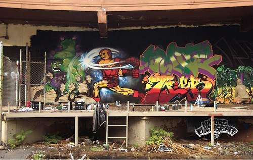 graffiti avengers iron man hulk art - 6663133184