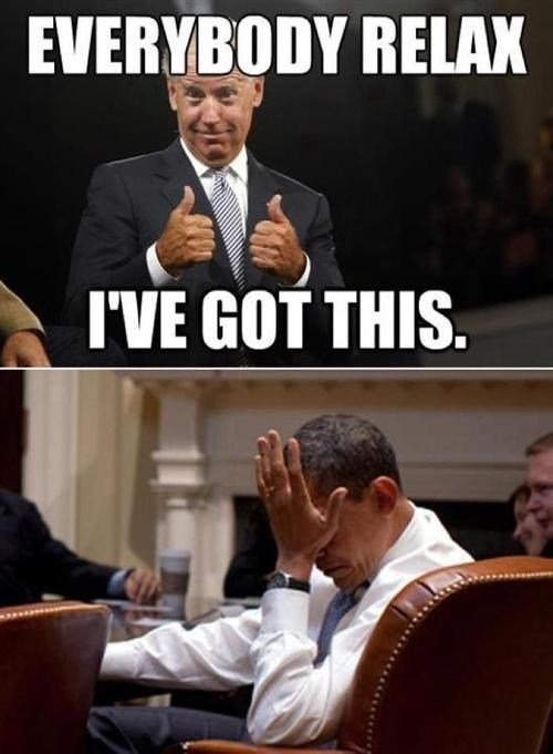 barack obama joe biden relax thumbs up facepalm i got this debate vice-presidential debate