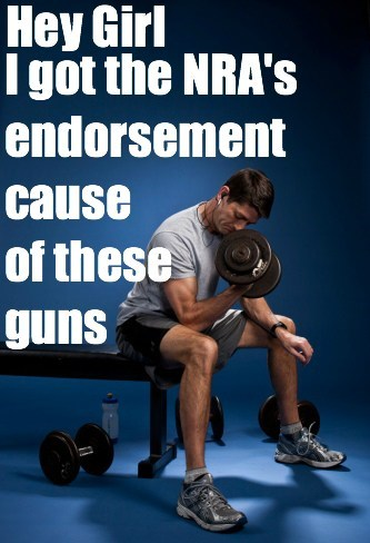 paul ryan,hey girl,NRA,endorsement,guns,arms,lifting weights
