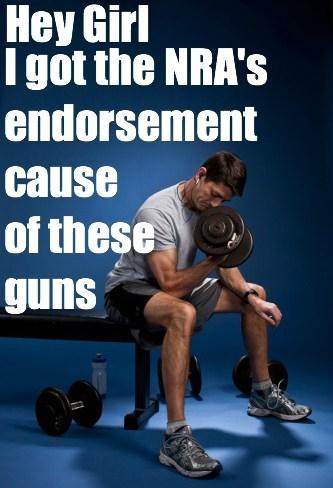 paul ryan hey girl NRA endorsement guns arms lifting weights - 6663191552