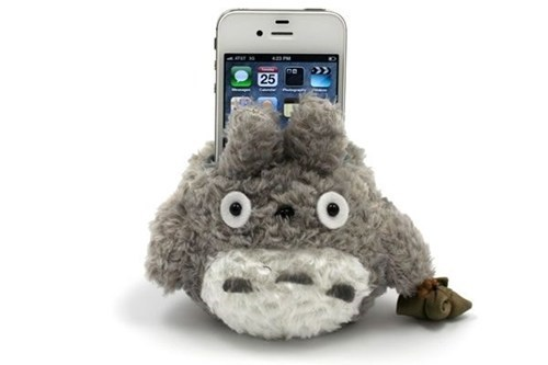 totoro neighbor Plush cell phone stand holder - 6663309568