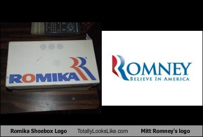 Romika Shoebox Logo Totally Looks Like Mitt Romney's logo