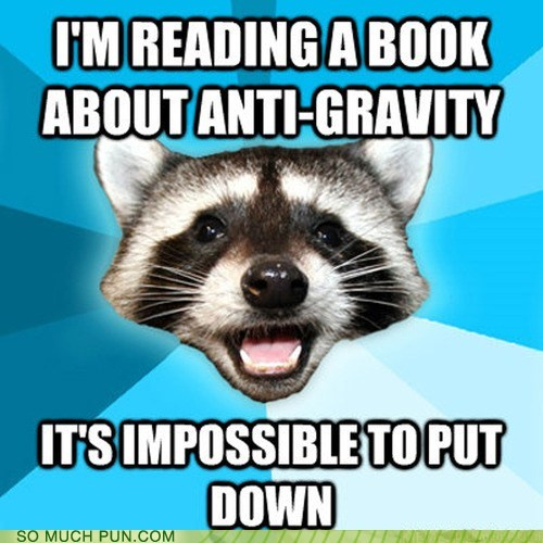 anti gravity impossible put down Lame Pun Coon double meaning