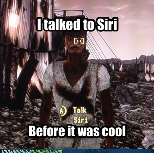 siri new vegas apple fallout hipster - 6663611392