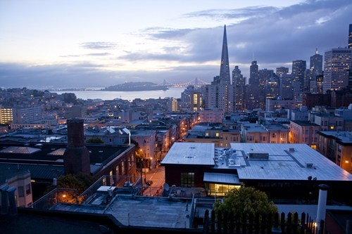 san francisco sunrise cityscape