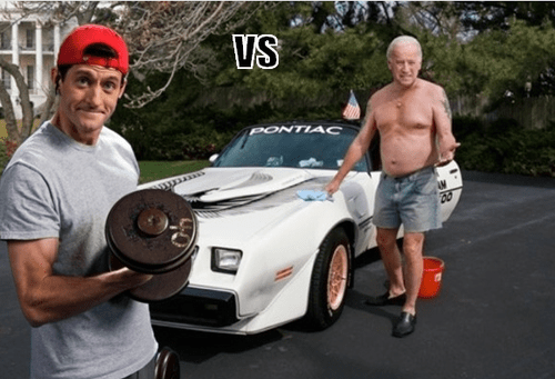 paul ryan,joe biden,vs,debate,vice-presidential debate,fit,fat,shirtless