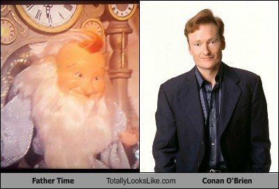 funny TLL father time doll actor celeb conan obrien