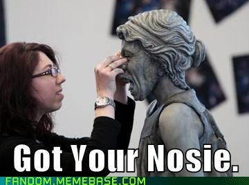 makeup game behind the scenes got your nose weeping angels doctor who - 6664147712
