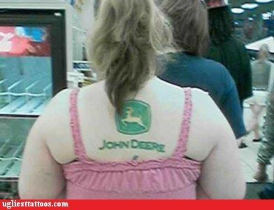 back tattoos,John Deere