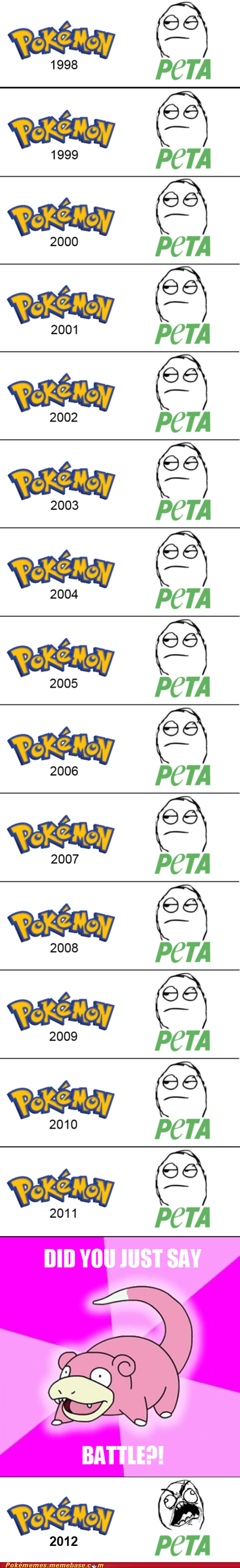 peta,slowpoke,all these years,Pokémon