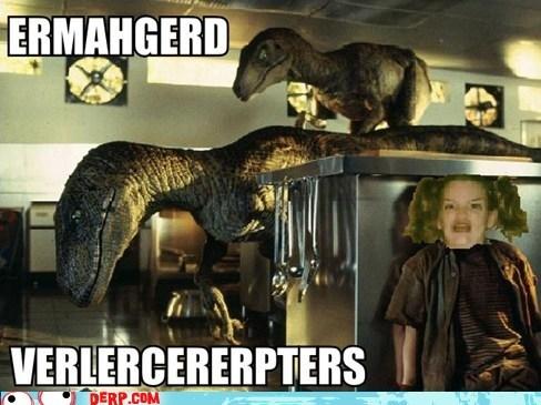 jurassic park Ermahgerd velociraptor Movie - 6665020416