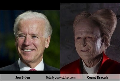 Joe Biden Totally Looks Like Count Dracula