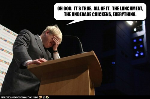 scandal boris johnson true lunchmeat chickens break down crying