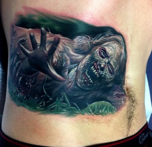 zombie,belly tattoos