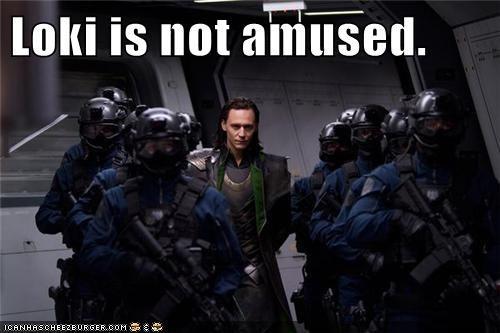 Loki is not amused.