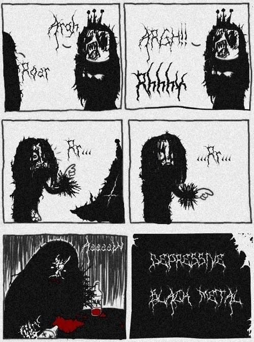 black metal,comic
