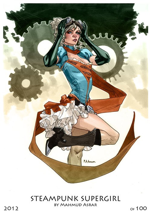 supergirl art Steampunk - 6665873664