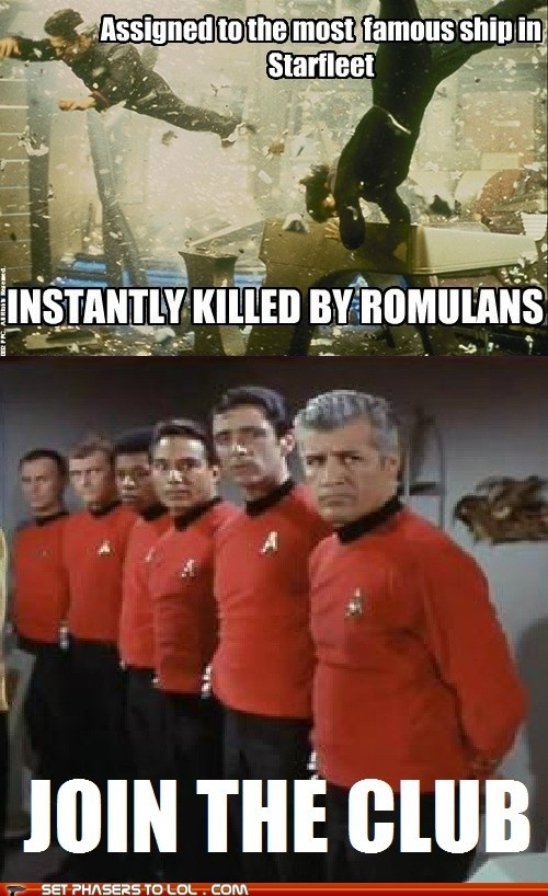 instant kill,romulans,enterprise,red shirts,famous,Star Trek