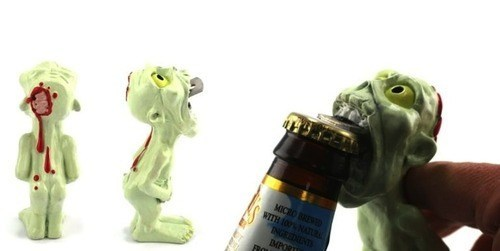 sloshed swag brains zombie bottle opener halloween - 6666206720