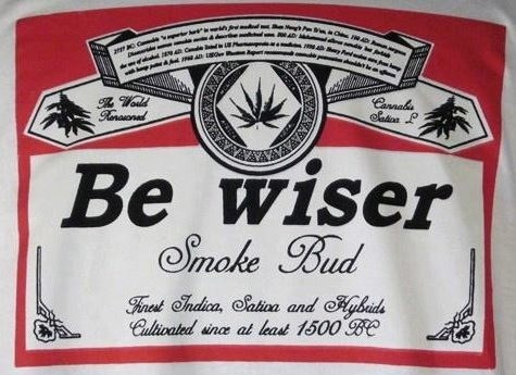 walk off budweiser be wiser marijuana - 6666226432