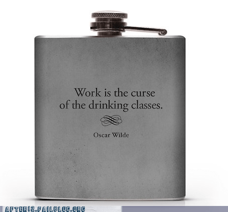 skip drinking class Wasted Wisdom oscar wilde flask - 6666233600