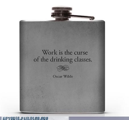 skip drinking class Wasted Wisdom oscar wilde flask - 6666233600