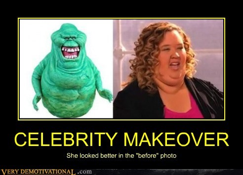 "CELEBRITY MAKEOVER She looked better in the ""before"" photo"