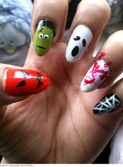 nails manicure halloween style fashion spooky g rated - 6666313216