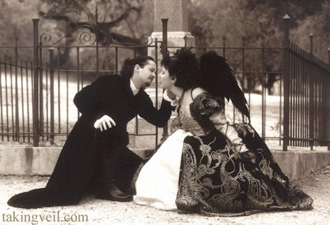 goth KISS crouch wings black