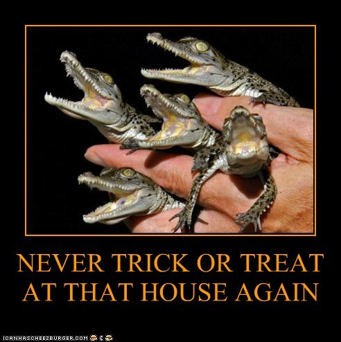 halloween,teeth,trick or treat,alligators,never again,sharp
