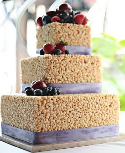 cake,rice krispie treats,no baking,berries
