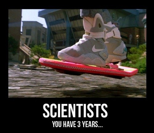 back to the future hoverboard scientists