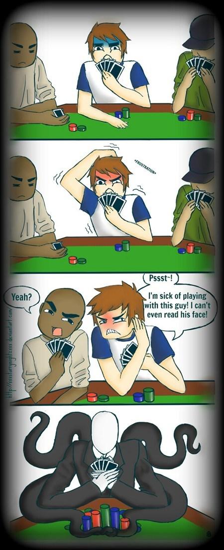 pokerface slenderman cards game art